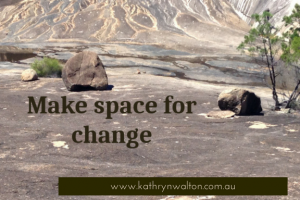 Make space for change - rocky expanse