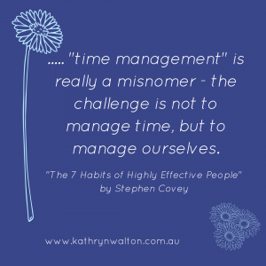 The challenge with time management is to manage ourselves