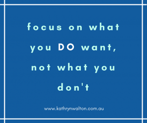 Focus on what you DO want to change habits