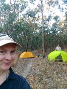 tents set up in the remote bush camp