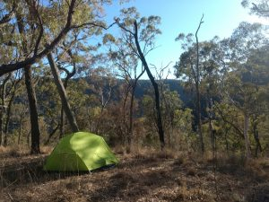 bushwalking and camping