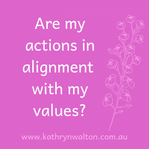 Are my actions in alignment with my values when working from home?