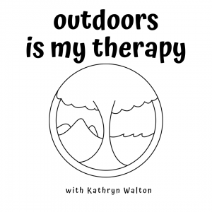 outdoors is my therapy podcast logo