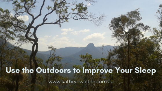 Use the outdoors to improve your sleep