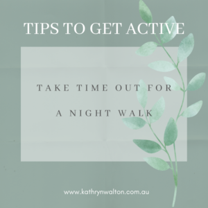 take time out for a night walk