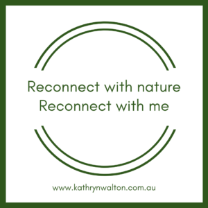 connect with nature - connect to self