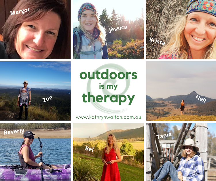 outdoors is my therapy ambassador photo collage